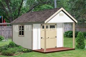 16 x 12 cabin shed covered porch plans plueprint p61612