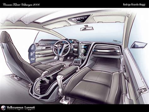 vw interior sketch  rodrigo maggi car body design