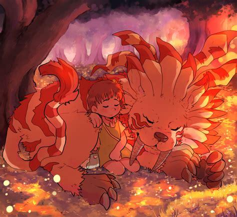 Katou Juri And Saberleomon Digimon Digimon Digimon