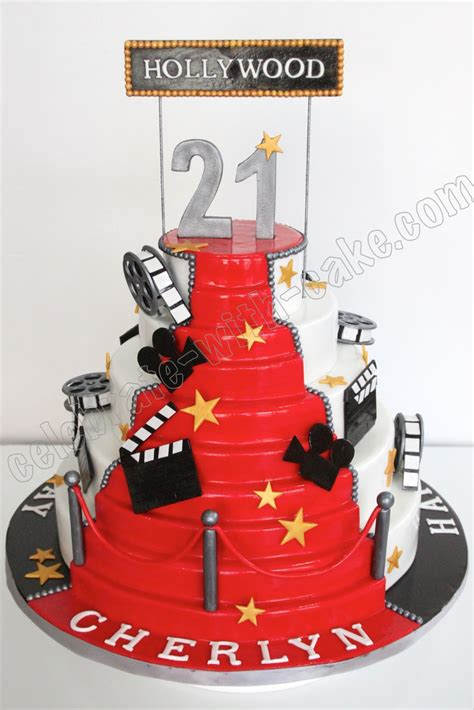 Celebrate With Cake! Hollywood Themed Cake