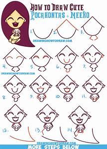 How to Draw a Cute Kawaii / Chibi Pocahontas and Meeko ...