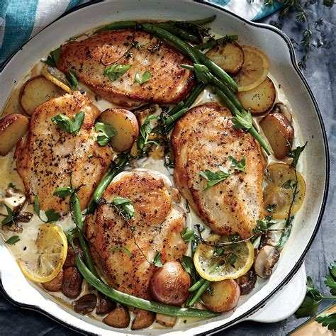 chicken skillet recipes weeknight lemon chicken skillet dinner recipe myrecipes