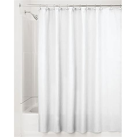 interdesign york hotel cotton blend fabric shower curtain