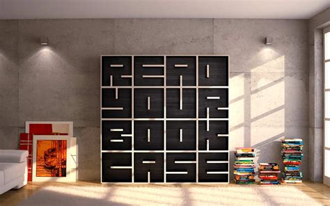 Read Your Bookcase Bookshelf Buy by A Modular Typographical Bookcase By Saporiti Colossal