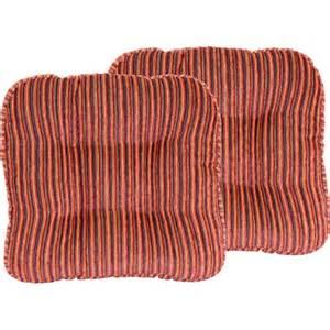 huntington stripe 14 quot chair pad set of 2 walmart com