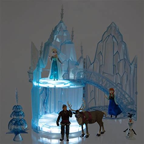 disney frozen elsa musical ice castle playset olaf