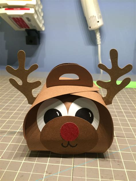 Choose from our collection of classic and festive greeting card templates, completely free to use! Rudolph Reindeer Curvy Keepsake box. Used Cricut and SVG ...