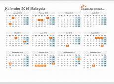 Feiertage 2019 Malaysia Kalender & Übersicht