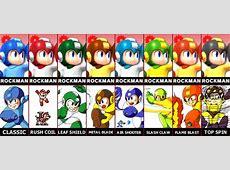 Mega Man's alt costumes smashbros