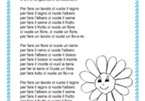 canzone ci vuole un fiore canzoni per bambini testo di canzoni per bambini da stare
