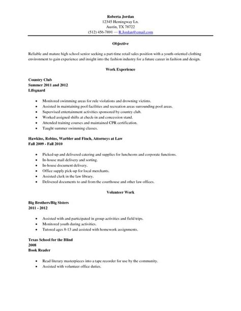 sle high senior resume resume sle high