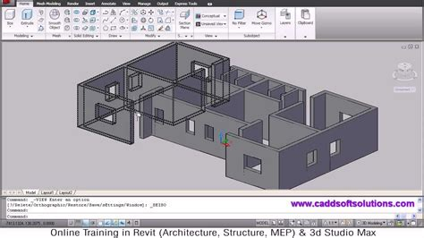 autocad  house modeling tutorial   home design  building  floor plan  room youtube