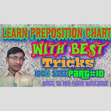How To Learn Preposition Chart With Tricks Part#10  Preposition Chart For Ssc  Bank And