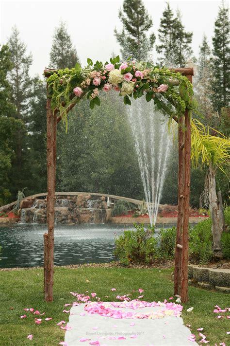 rustic simple wedding arch vintage backdrops photo