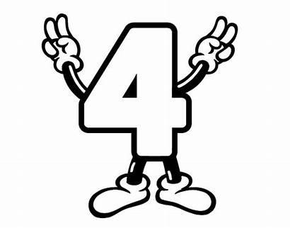 Para Colorear Numero Cartoon Numbers Number Getcoloringpages