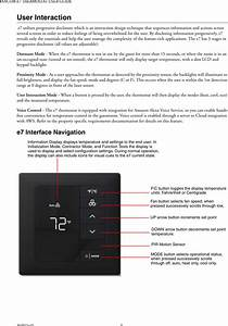 Honeywell 201528100 E7 Thermostat User Manual