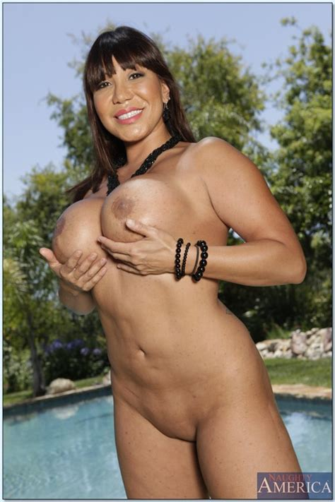 ava devine flaunt her melons by the pool milf fox