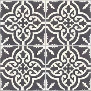 Faire Briller Des Carreaux De Ciment : lot de 4 carreaux de ciment trouville noir et blanc x cm leroy merlin ~ Melissatoandfro.com Idées de Décoration