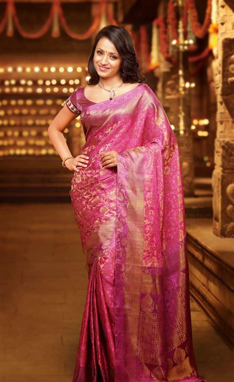 Trisha Glamorous Photos Sareee Latest Tamil Actress