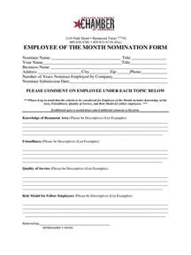 Cover Sheet Resume Template Employee Of The Month Nomination Form 5 Free Templates In Pdf Word Excel