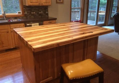 Handmade Solid Hickory Bar Top / Island Top by Glessboards