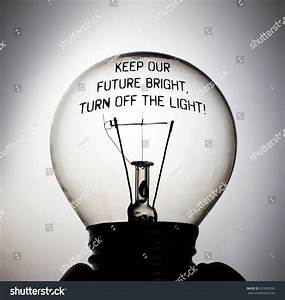 Silhouette of an incandescent light bulb with the message