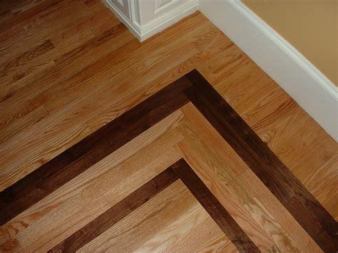 #1 Red Oak with a Walnut Border   Ozark Hardwood Flooring