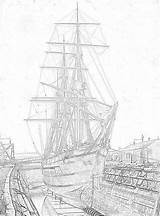 Coloring Ships Pages Sailing Tall Filminspector sketch template