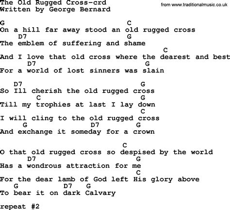 To The Rugged Cross Lyrics by Top 500 Hymn The Rugged Cross Lyrics Chords And Pdf