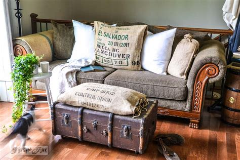 Funky Ottoman by A Funky Trunk And Bean Sack Ottomanfunky Junk Interiors