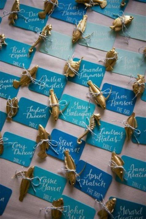 creative beach wedding escort cards ideas weddingomania