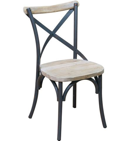 Reclaimed Wood and Metal Dining Chairs (Set of 2) in