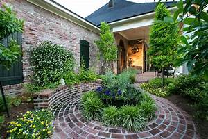 Brick courtyard design ideas landscape traditional with