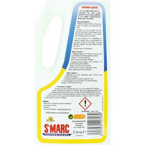 lessive oxydrine st marc liquide 2 l de nettoyant mur