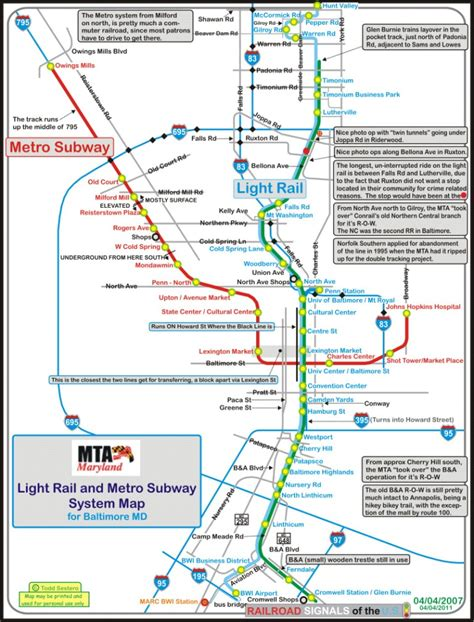 light rail stops the baltimore light rail system