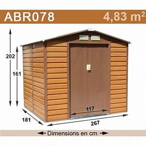 Amazon Abri De Jardin Metal : abri de jardin m tal 4 83 m2 aspect bois kit d 39 ancrage ~ Edinachiropracticcenter.com Idées de Décoration