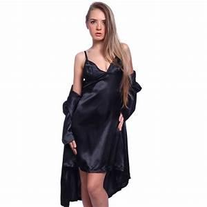 sexy satin slip lace back nighty sleepwear chemise w wrap With robe chemise cintrée