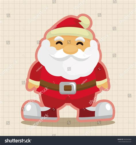 Skull Santa Claus Background Branches Mistletoe Stock Santa Claus Theme Elements Stock Vector Illustration