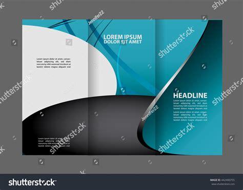 Abstract Colorful Brochure Design Template Vector Tri Fold Vector Modern Blue Trifold Brochure Design Stock Vector