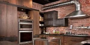 loft cuisine bois noyer frene quartz With cuisine en bois frene