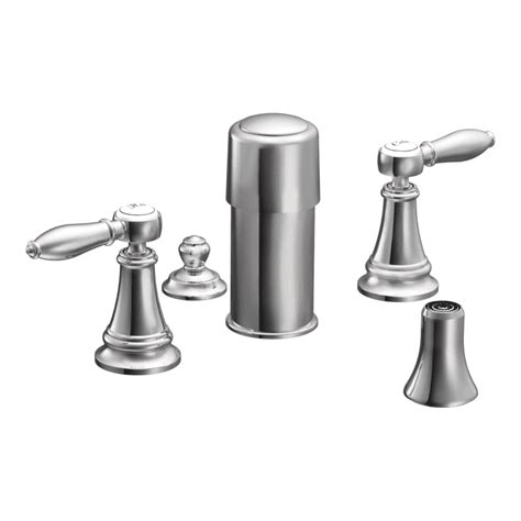 moen weymouth widespread faucet moen ts42105 chrome widespread bidet faucet with vertical
