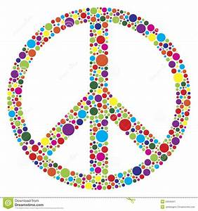 Peace Symbol With Polka Dots Illustration Stock Image ...