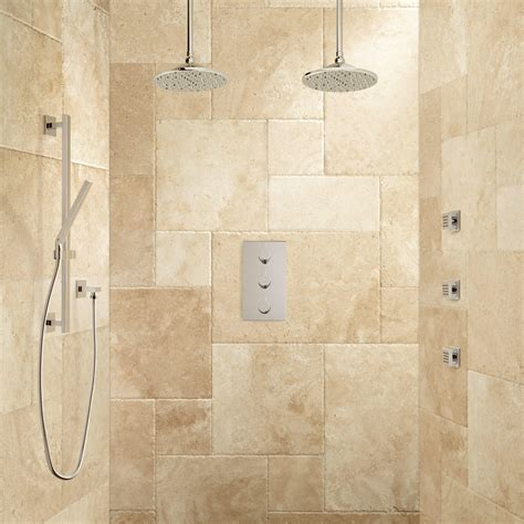 labelle thermostatic dual shower system hand shower