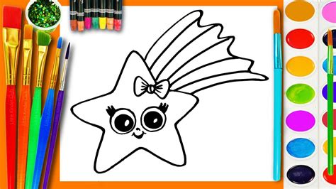learn  draw  coloring  kids  paint  star