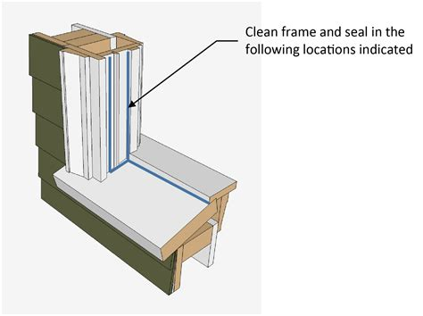 Window Sill Sealant by Recommended Sealant Location As Part Of Window Frame