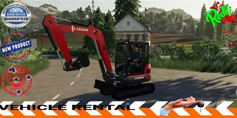 mod mini excavator loxam  farming simulator  mod ls mod