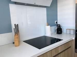 Crédence Cuisine Verre : d coration cuisine aude 11 cr dence verre blanc ~ Premium-room.com Idées de Décoration