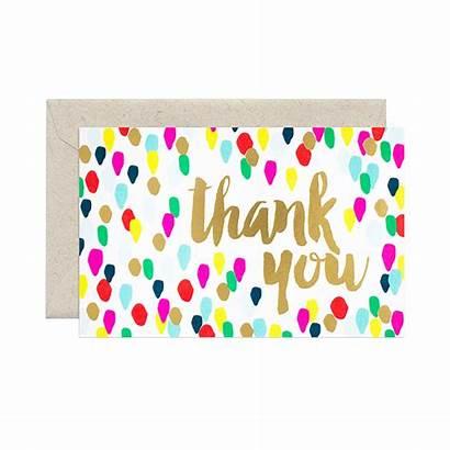 Thank Card Confetti Thankyou Paper
