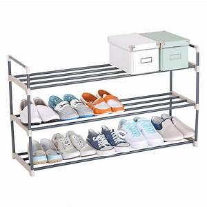 Schuhregal Für Kinderschuhe : xxl 3 ebene schuhregal schuhst nder schuhablage metall ~ Sanjose-hotels-ca.com Haus und Dekorationen
