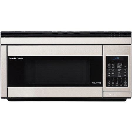 sharp r1874t 30 inch wide 1 1 cu ft the range microwave with convection c walmart